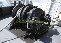 Anchor Rope Marine Deck Winches , Automatic Marine Hydraulic Winch Customized Size