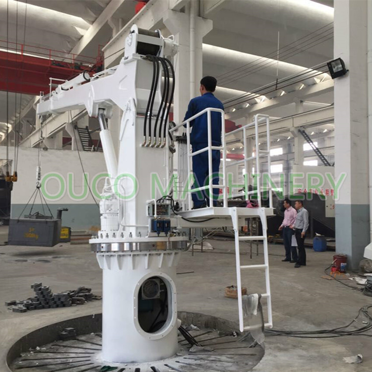 Hydraulic Telescopic Boom Crane Boat Lifting Crane 1T5M CCS Certificated